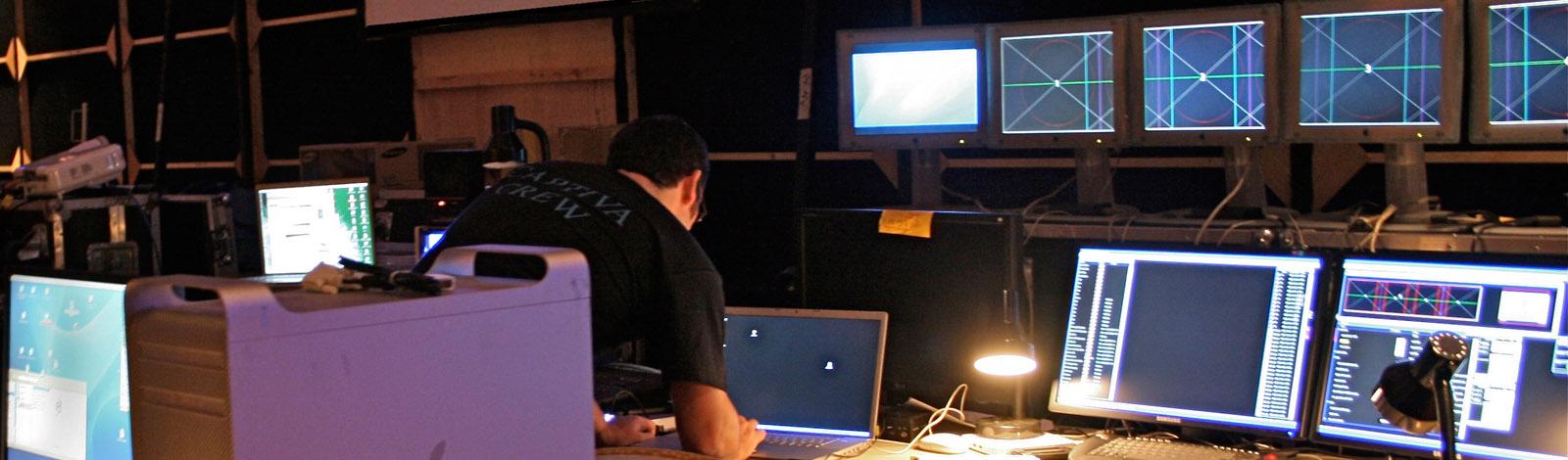 AV Hire, Set build, Rigging, Widescreen, Dataton Watchout